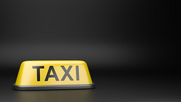 Szyld dachowy taxi na białym tle