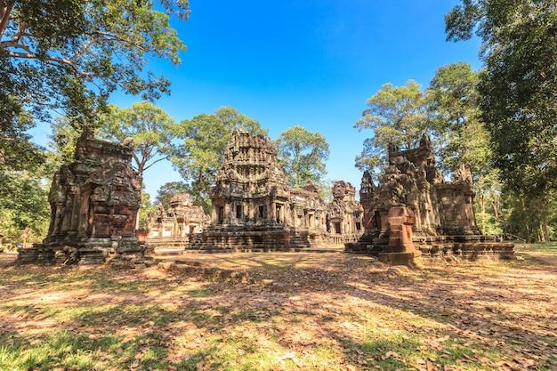 Ta phrom kasztel w angkor thom, kambodża
