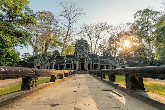 Ta prohm, angkor wat w kambodży.