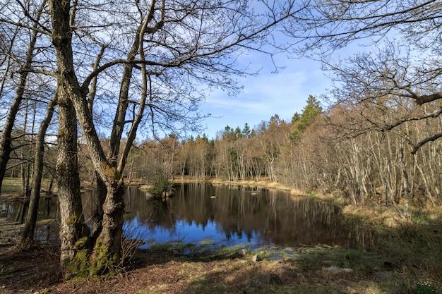 Taarntjernet, małe jezioro w parku narodowym jomfruland, kragero, norwegia