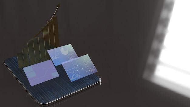 Tablet i ekran dla biznesu