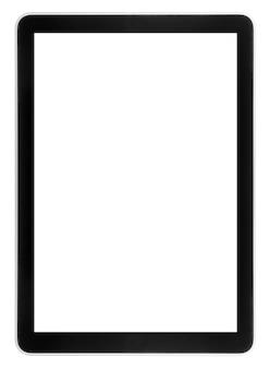 Tablet na białym tle na białych powierzchniach