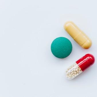 Tabletki widok z góry
