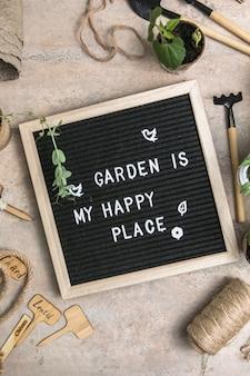 Tablica na listy z ogrodem tekstowym to moje szczęśliwe miejsce