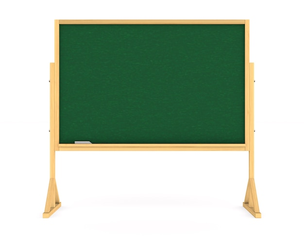 Tablica szkolna. izolowane renderowanie 3d