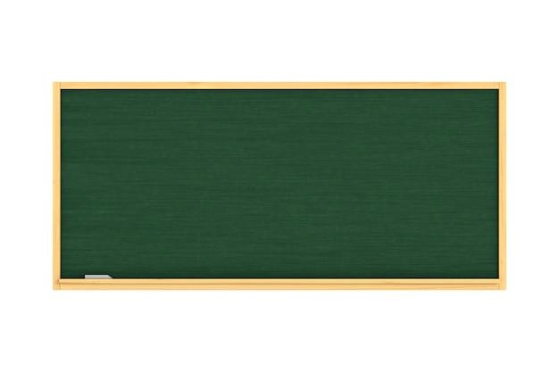 Tablica szkolna na białym tle. izolowana ilustracja 3d
