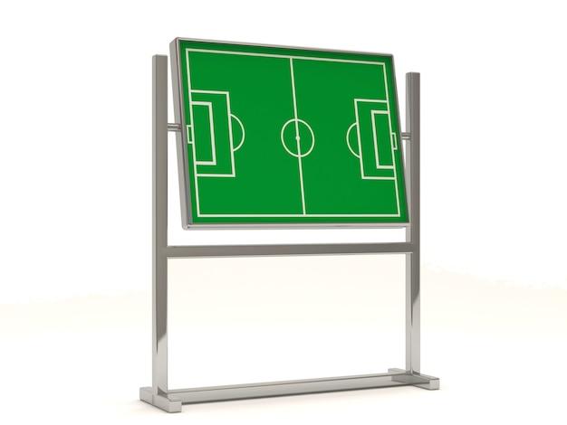 Tablica taktyczna piłki nożnej na białym tle