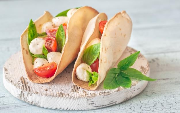 Tacos caprese