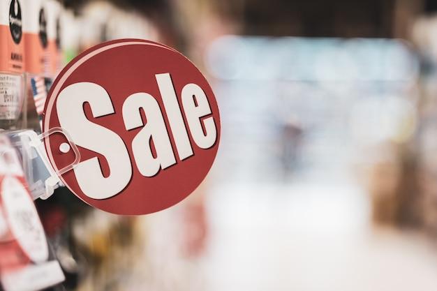 Tag sprzedaży na półce, sprzedaży i zakupów