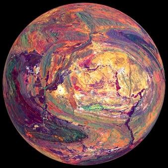 Tajemnicza planeta w kosmosie, satelita gwiazdy. planeta super-ziemi, realistyczna egzoplaneta odpowiednia do kolonizacji, planeta podobna do ziemi w dalekiej przestrzeni, renderowanie 3d