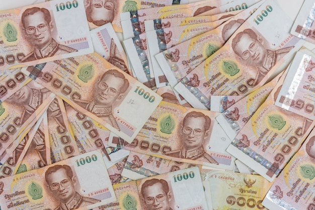 Tajlandia banknot lub pieniądze na blackground
