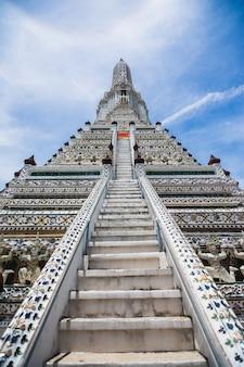 Tajlandzka antyczna artystyczna architektura w wacie poh, bangkok