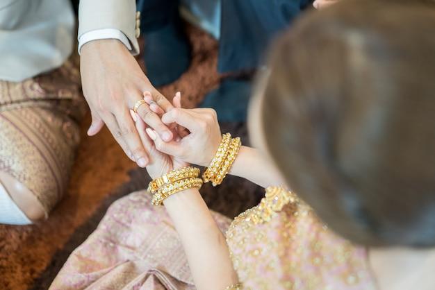 Tajlandzka ceremonia ślubna tradycyjna kultura