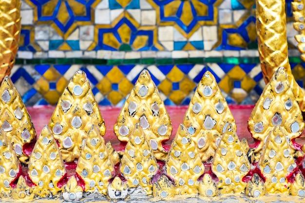 Tajlandzka mozaiki wzoru sztuki ściana, tekstury tło