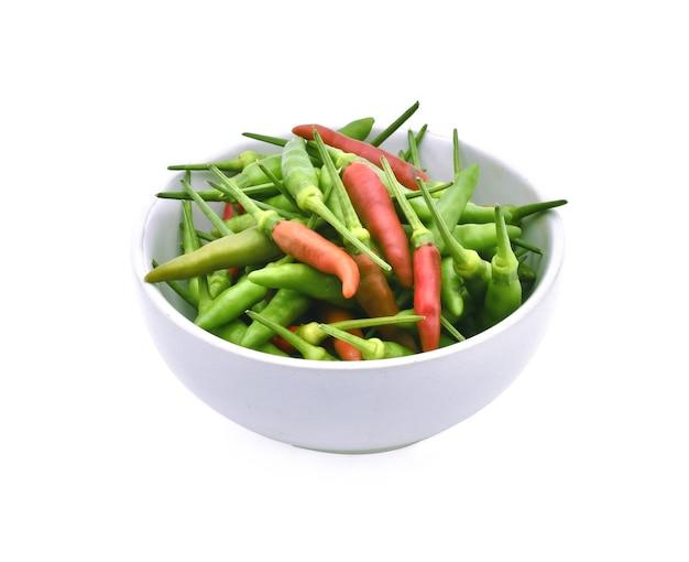 Tajska czerwona i zielona papryka gwinei