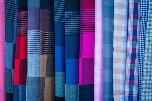 Tajska miejscowa ręcznie robiona tkanina.