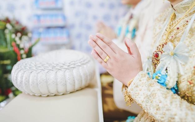 Tajska tradycyjna ceremonia ślubna, ceremonia ślubna w tajlandii.