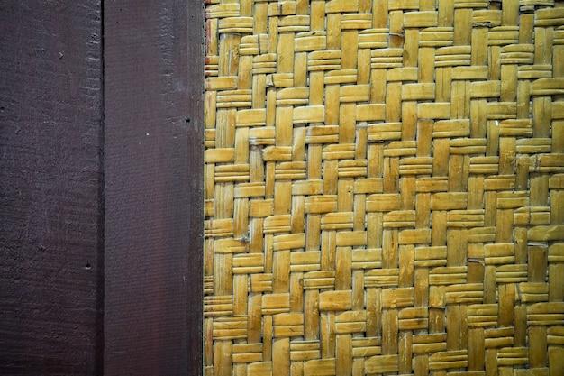 Tajski vintage tradycja lokalny bambus splot wzór tła.