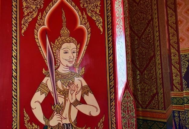 Tajski wzór dekoracyjny na ścianach
