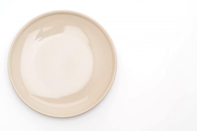 Talerz i miska na białym tle