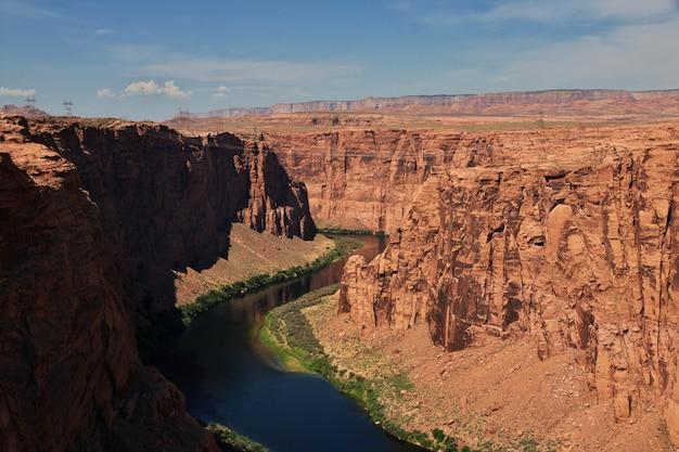Tama na rzece kolorado w arizonie, paige