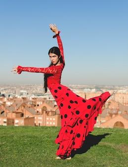 Tancerka flamenco na trawie