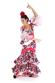 Tancerka flamenco w pięknej sukni