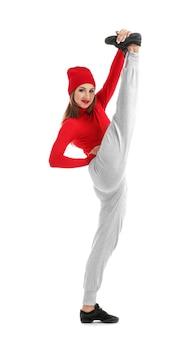 Tancerka hip-hopowa tańczy
