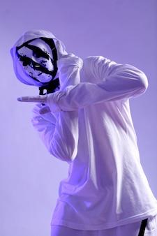 Tancerz hip-hopu w studio