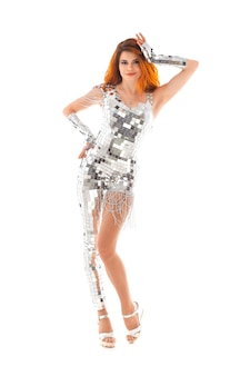 Tańcząca dziewczyna w klubie nocnym