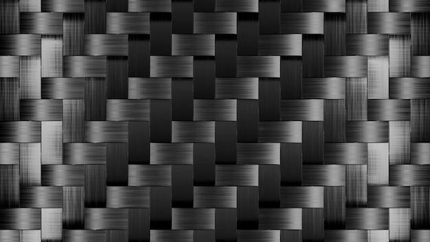 Tapeta abstrack świecąca szaro-czarnym kwadratem render