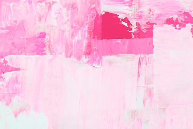 Tapeta z teksturowaną farbą w różowej farbie akrylowej