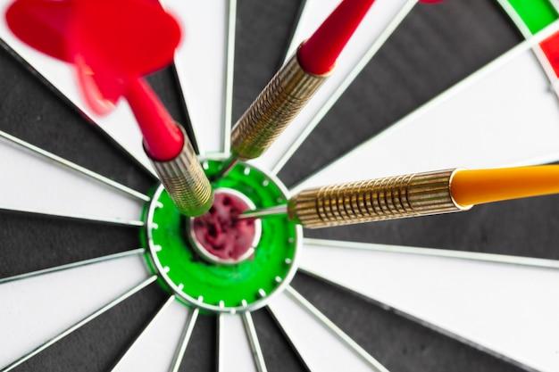 Tarczy do sukcesu w biznesie koncepcja