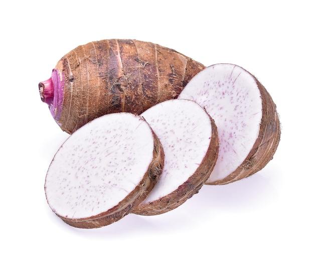 Taro na białym tle