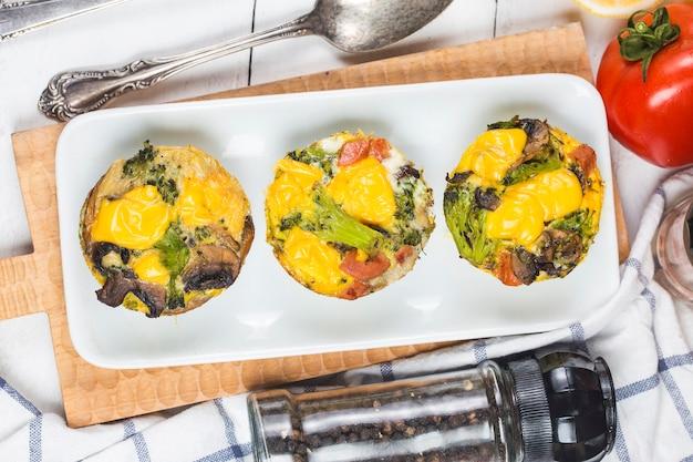 Tarta jajeczna z warzyw