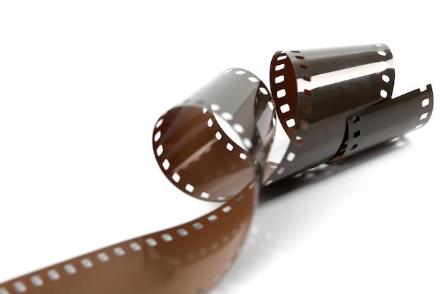 Taśma filmowa na białym tle