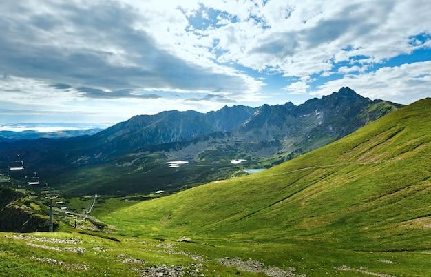Tatry, polska, widok na dolinę gąsienicową, grupę jezior polodowcowych i górę świnicy
