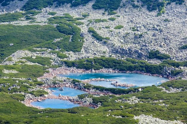 Tatry, polska, widok na dolinę gąsienicową i grupę jezior polodowcowych