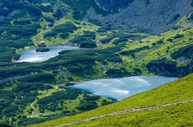 Tatry, widok na dolinę gąsienicową i grupę jezior polodowcowych