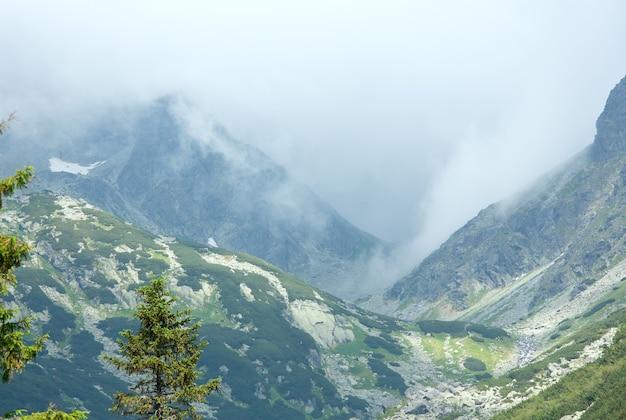 Tatry wysokie lato pochmurny widok na góry