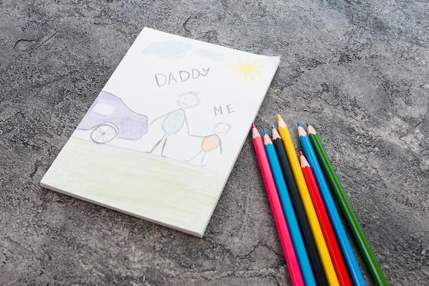 Tatuś i ja napisaliśmy jasnymi ołówkami