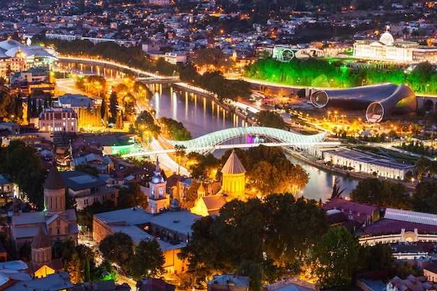 Tbilisi widok z lotu ptaka
