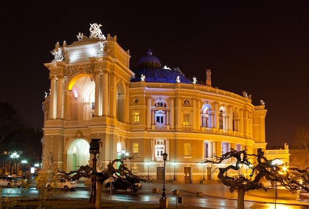 Teatr opery i baletu w odessie nocą