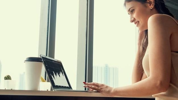 Technologia biznesowej analizy danych wizualnych za pomocą kreatywnego oprogramowania komputerowego