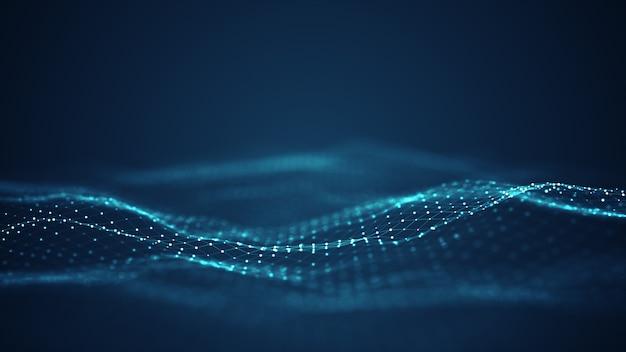 Technologia cyfrowa fala tło