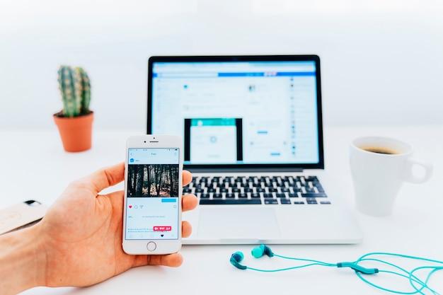Technologia, instagram i facebook