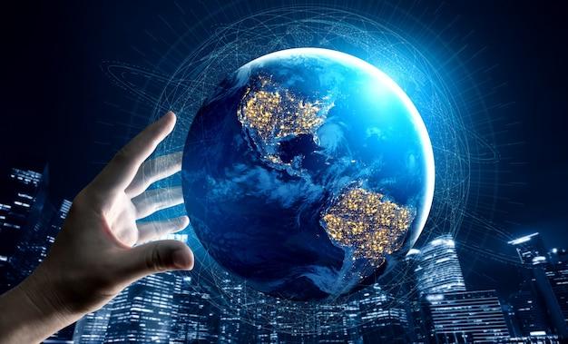 Technologia komunikacyjna 5g bezprzewodowa sieć internetowa dla globalnego wzrostu gospodarczego, mediów społecznościowych, cyfrowego handlu elektronicznego i rozrywki do użytku domowego