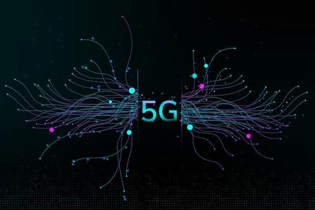Technologia kropki cząstek 5g cyfrowe tło korporacyjne