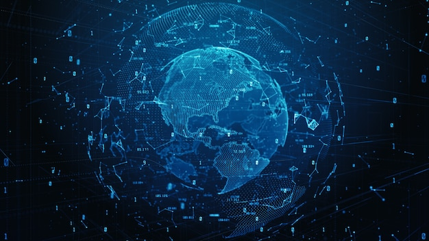 Technologia network data connection, cyber security cyfrowe dane