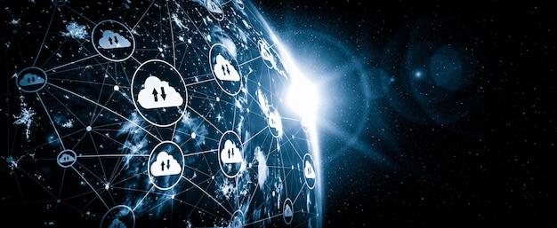 Technologia przetwarzania w chmurze i przechowywanie danych online w innowacyjnej percepcji